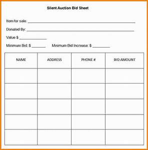 10 silent auction bid sheet template cashier resume With bid sheets for silent auction template