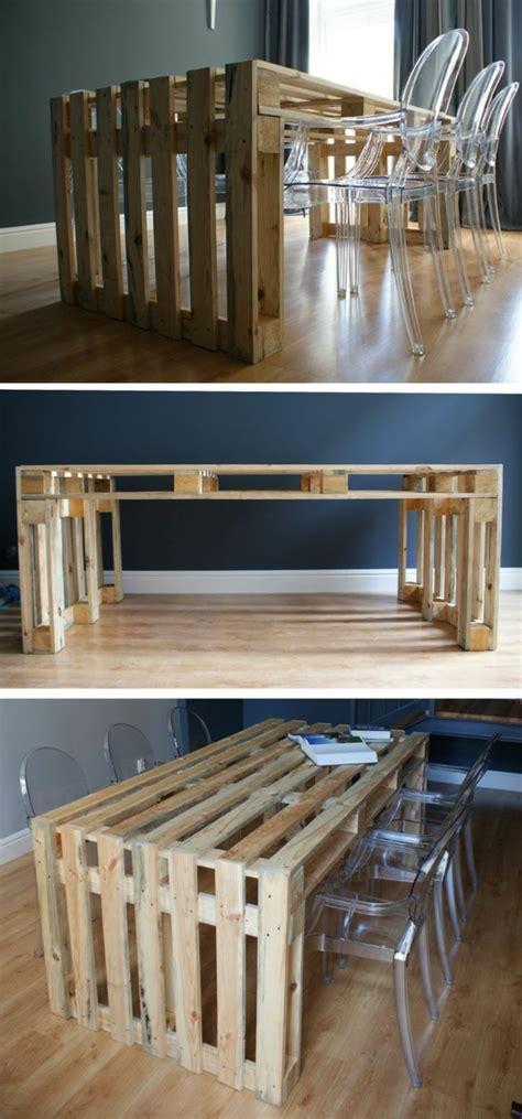 table de cuisine en palette 50 idées pour une table basse avec palette