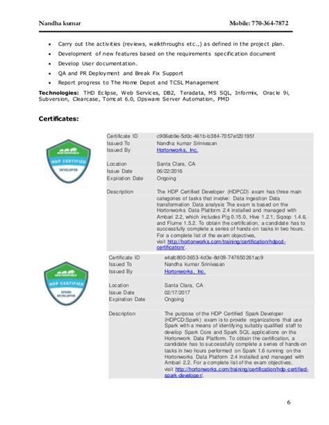 Resume Ca Java Server Framework by Nandha Kumar Srinivasan Resume
