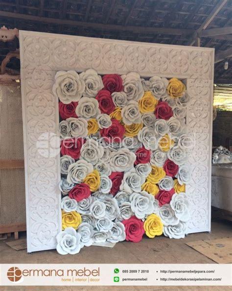 jual photo booth pelaminan bunga karet pelaminan minimalis