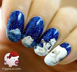 CocaCola polar bears . this is the most beautiful nail art ...