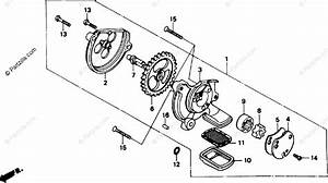 Honda Motorcycle 1987 Oem Parts Diagram For Oil Pump
