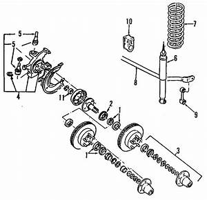 1990 Ford Bronco Ii Bearing   Front   Axle  Outer