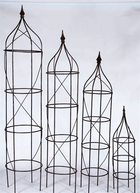 wrought iron rose trellis plant support sets