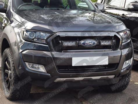 ford ranger la centrale led dans grille ford ranger 2016