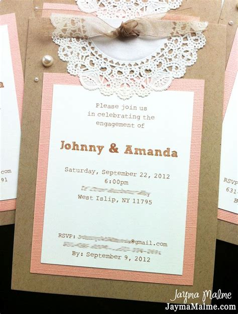 25 best ideas about doily invitations on