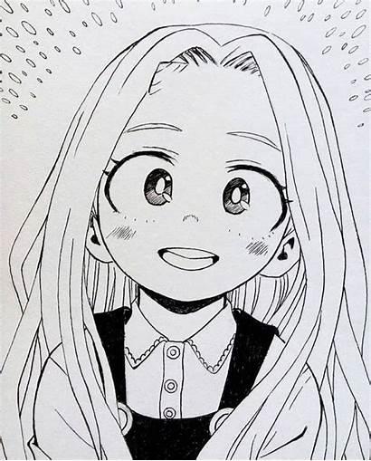 Anime Eri Academia Hero Lineart Drawings Manga
