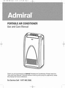 Admiral  Kelon  Air Conditioner Room  42  Manual L0802066