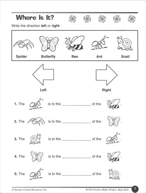 9 best images of grade map skills worksheets 1st