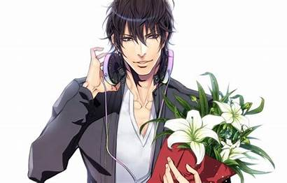 Anime Yaoi Yon Guy Headphones Bouquet Flowers