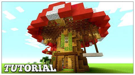 minecraft   build  mushroom house tutorial easy small survival house youtube
