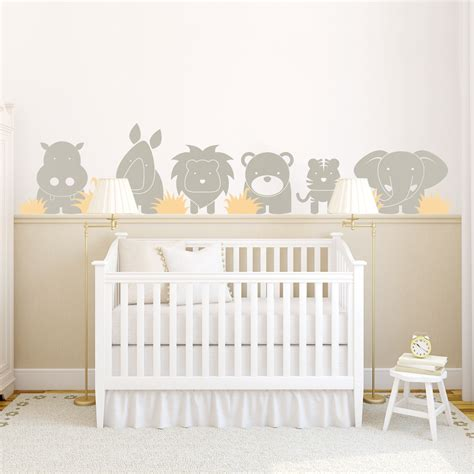 sticker chambre bebe zoo babies wall decal