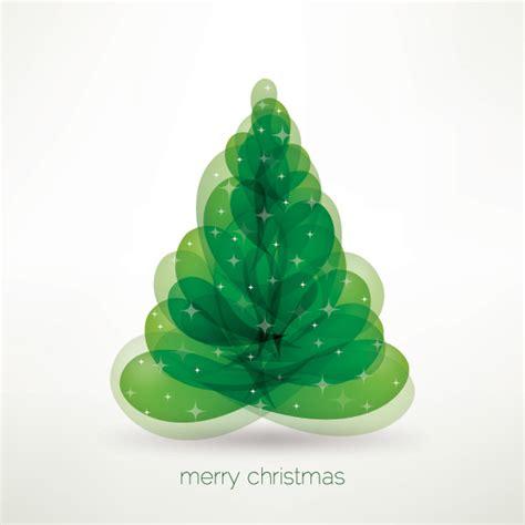 merry christmas tree vector graphic