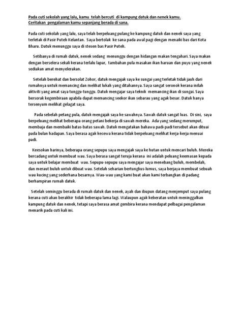 Contoh Karangan Bercuti Bersama Keluarga Pt3 Contoh Karangan Pengalaman Bercuti Di Cameron Highland 3 5 Contoh Karangan Narasi Tentang Pengalaman Pribadi Singkat Huiycay