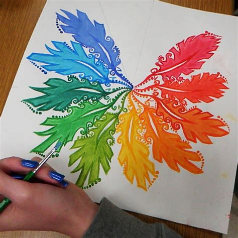 acrylic paint color wheel high school painting