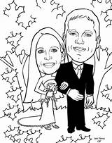 Coloring Anniversary Wedding Pages Couple Cartoon Happy Popular Gift Cartoons Library Clipart sketch template