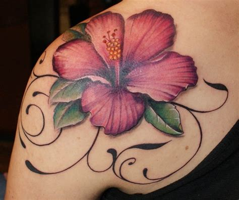 Hibiscus Flowers Female Tattoofemale Tattoos Gallery