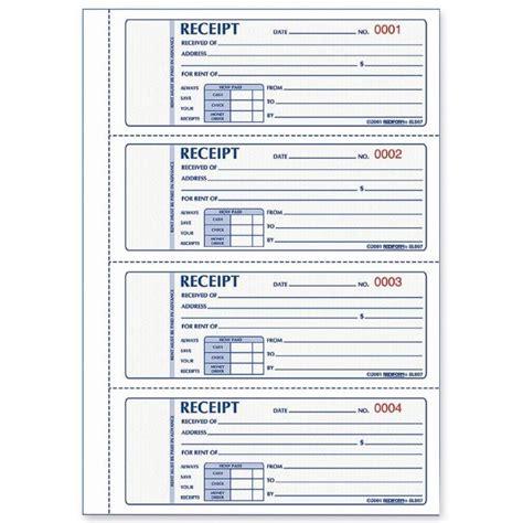 Rediform Rent Receipt Book - Quickship.com   Templates ...