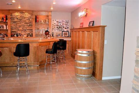 oak wainscoting trim basement project ideas