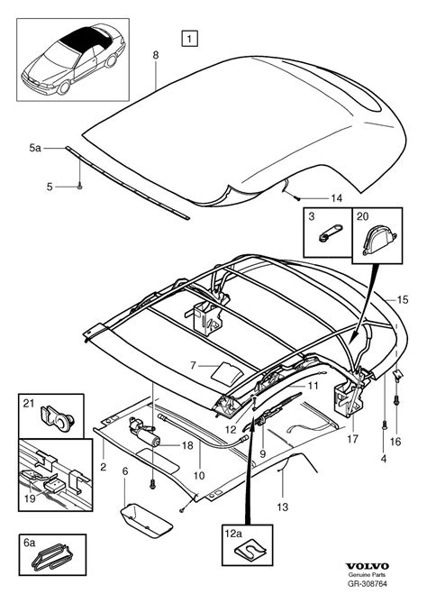 Volvo Parts Diagrams by Soft Top For 1999 Volvo C70 Convertible 2 5l 5 Cylinder