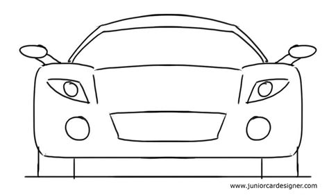 kid car drawing easy car drawing tutorial for kids sports car front view