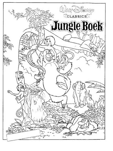 coloring pages  jungle book coloring home