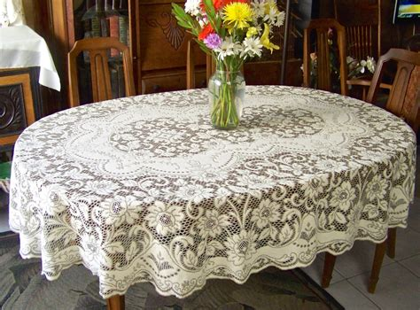 tablecloth for oval table vintage quaker lace cloth oval tablecloth cottage decor table