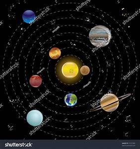 Planets Sun Our Solar System Vector Stock Vector 31527280