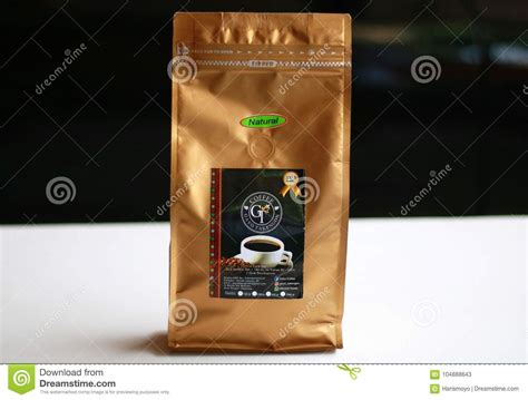 This % arabica coffee shop design has been designed by the b.l.u.e. Aceh Gayo Coffee editorial stock photo. Image of building - 104888643