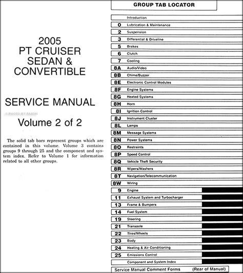 free car manuals to download 2008 chrysler pt cruiser engine control 2005 chrysler pt cruiser repair shop manual original 2 volume set