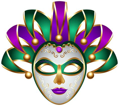 green purple carnival mask transparent png clip art image