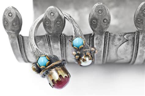 turco ottomano anello turco dell ottomano con la perla ed il rubino