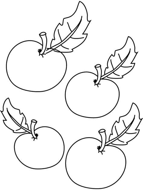 Kleurplaten Appelboom by Kleurplaat Appels Kleurplaten Nl
