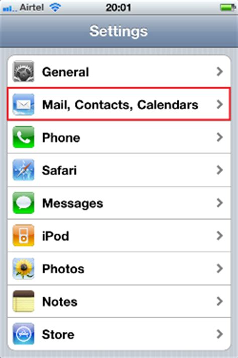 how to add email to iphone add an email account to iphone ipod touch or