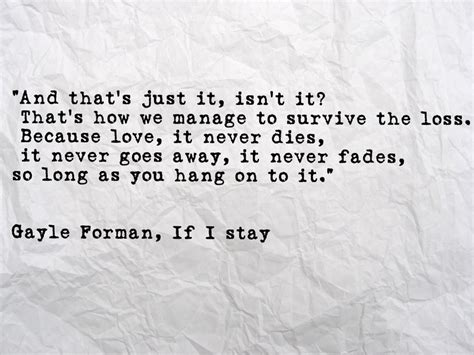 If Stay Book Quotes