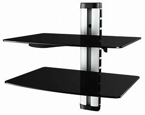 Glasregal Hifi Wandregal Wandboard Hi Fi Regal DVD Wand 11179