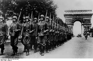 Image result for images of german army in arc de triomphe