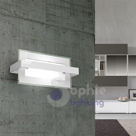 applique moderni applique parete design moderno rettangolare vetro bianco