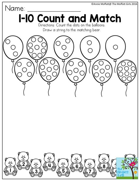 1 10 count and match count the dots on the balloons draw 464 | 2c2a879138236dd56b0af993fc6bd3c8 number activities for preschool number activities preschool