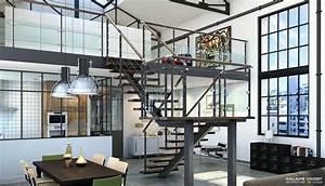 Interieur Style Industriel : guillaume coudert architecture d 39 int rieur architecture 3d design ~ Melissatoandfro.com Idées de Décoration