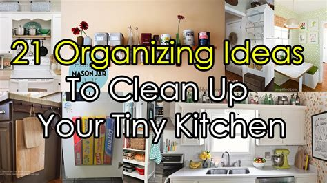 tips to organize your kitchen 21 organizing ideas to clean up your tiny kitchen 8540