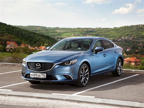 Wallpaper 2015 Mazda 6 Parking Light Blue Cars