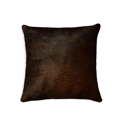 Torino Cowhide Pillow by Torino Chocolate 18 In X 18 In Cowhide Pillow
