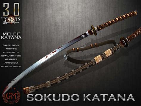 weapons katana marketplace second items secondlife
