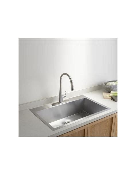 large kitchen sinks stainless steel vault by kohler quality square modern kitchen sinks 3821 8899