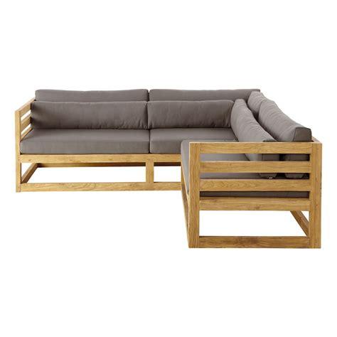 canapé teck jardin canapé d 39 angle de jardin 3 4 places en teck cyclades