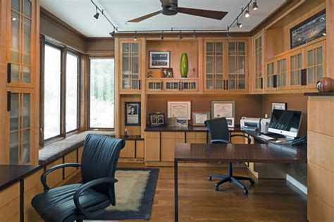 Western Runstudy For Two  Craftsman  Home Office