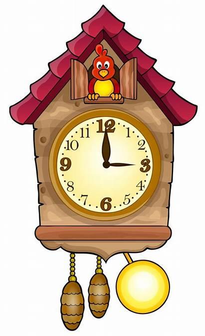 Clock Cuckoo Clipart Clip Clocks Cliparts Alarm