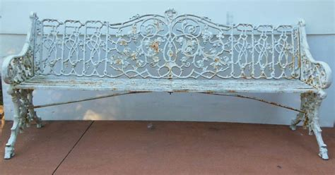 antique coalbrookdale garden bench in cast iron for sale