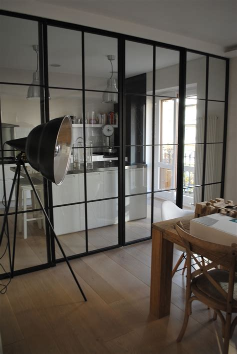 cuisine ouverte sur salle à manger et salon verrire sparation cuisine salon separation de cuisine en